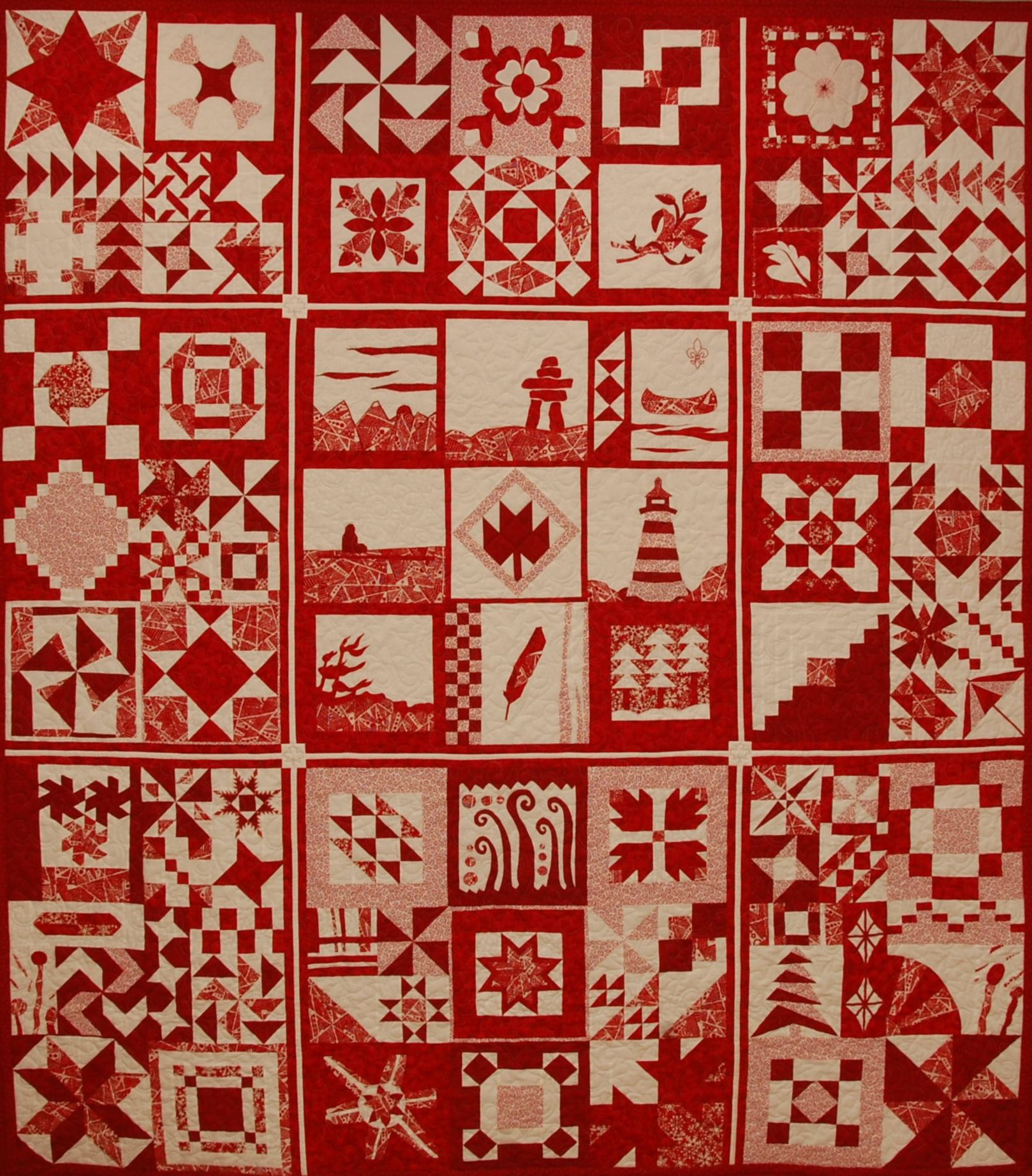 The Great Canadian Red and White Quilt